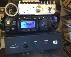 Yaesu 817 all band all mode with Amp on top tuner on bottom