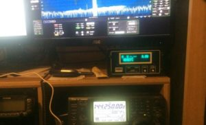 "Gary WD0CFC writes, ""This is the Icom IC-746pro doing 2-meter SSB. I will take a better picture later. """