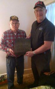 Matt Anderson KA0BOJ Nebraska Section Manager on the right presenting the award.