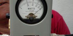Greg N0GR holds Bird shows 100W output