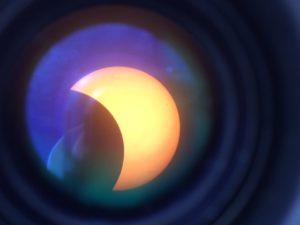 Post Eclipse from  Stapleton NE (iPad through 4 in Questar)