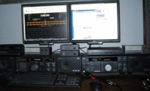 "Nick Jones KC0YKO writes, ""The 2M SSB Rig used for the net is on the left."""