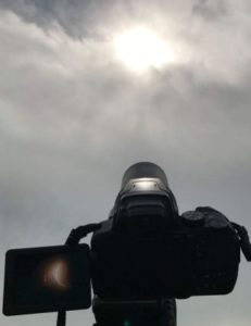 Albert demonstrates with the right camera and lens, eclipse photography can be impressive.