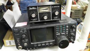 An ICOM 746 all band all mode (HF + 6M & 2M)